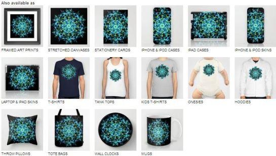 Mandala Ice Fractal Art Design