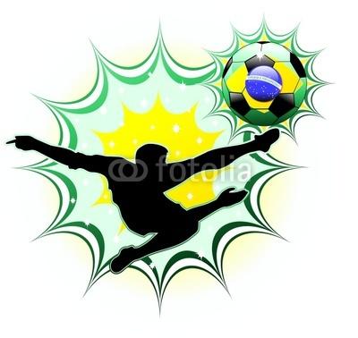 Brasil Soccer Champion Silhouette