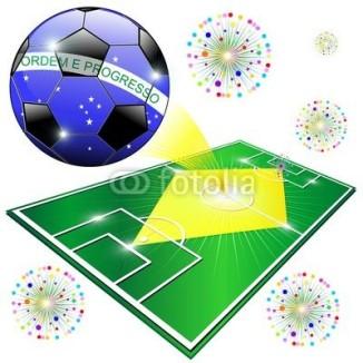 Brazil Flag World Championship with Soccer Ball