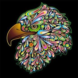 Eagle Hawk Psychedelic Art Design