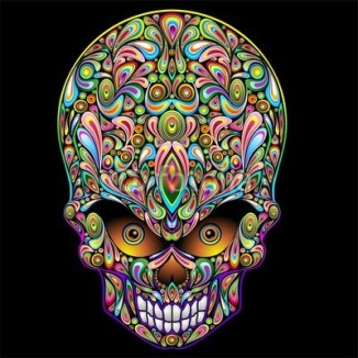 Skull Psychedelic Art Design