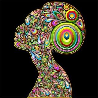 Woman Psychedelic Art Design Portrait