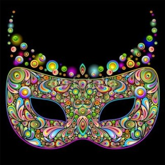 Carnival Party Mask Psychedelic Art Design