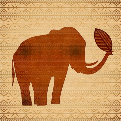 Elephant Tribal Art Design