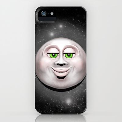 Full Moon Smiling Face 3D
