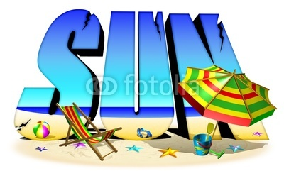 Summer Holiday - Sun Text