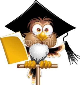 Owl Graduate/Teacher artoon Character