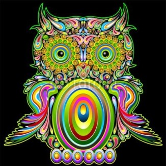 Owl Psychedelic Pop Art Design