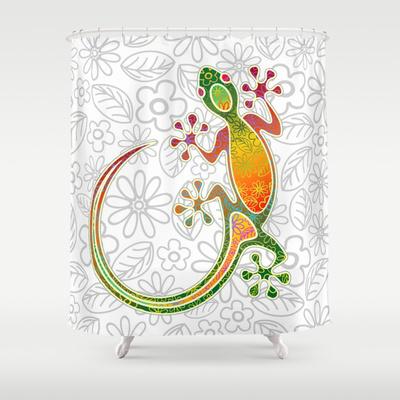 Gecko Floral Tribal Art