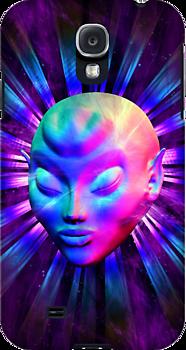 Psychedelic Alien Meditation Samsung Galaxy Case