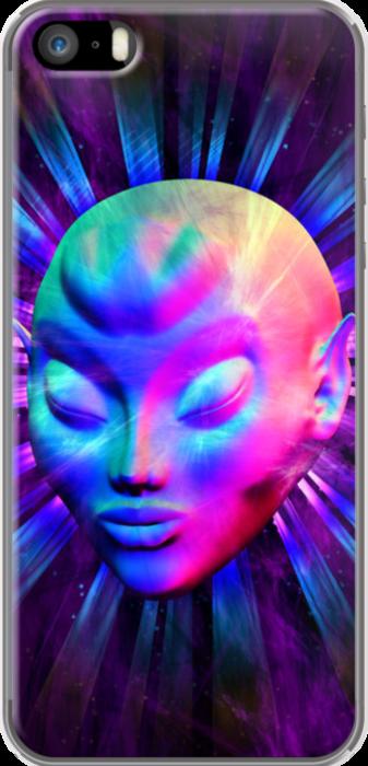 Psychedelic Alien Meditation Design on iPhone 5 Case