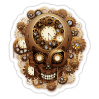 """Steampunk Skull Vintage Style"" Stickers by BluedarkArt 