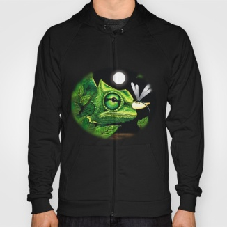chameleon-and-dragonfly-on-moonlight-hoodies