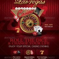 Casino Special Evening Flyer - by n2n44 Graphic Designer on GraphicRiver
