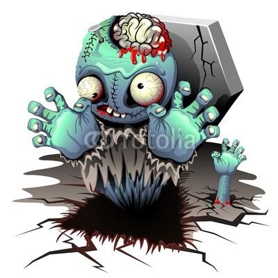 Zombie Monster Cartoon Doll Copyright © Bluedarkat - Fotolia