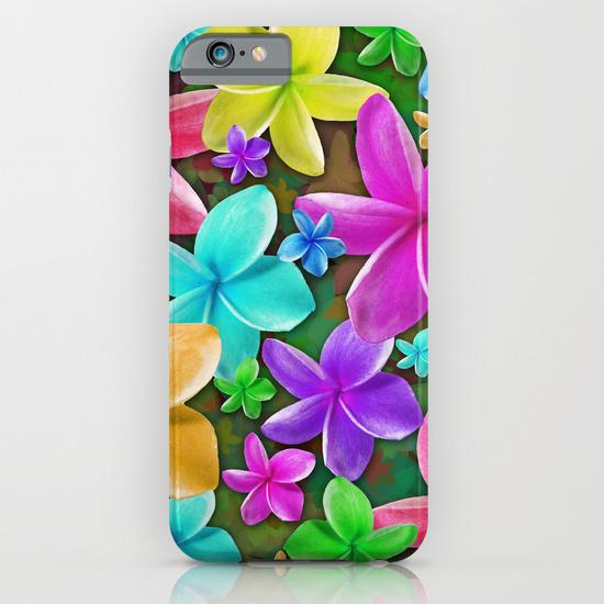 Plumerias Flowers Dream iPhone 6 Case