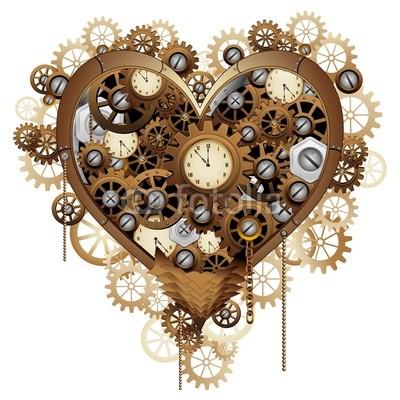 Steampunk Valentine Heart Love