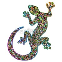 Sold Extended Licence! Gecko Lizard Psychedelic Art - Thank You! :)