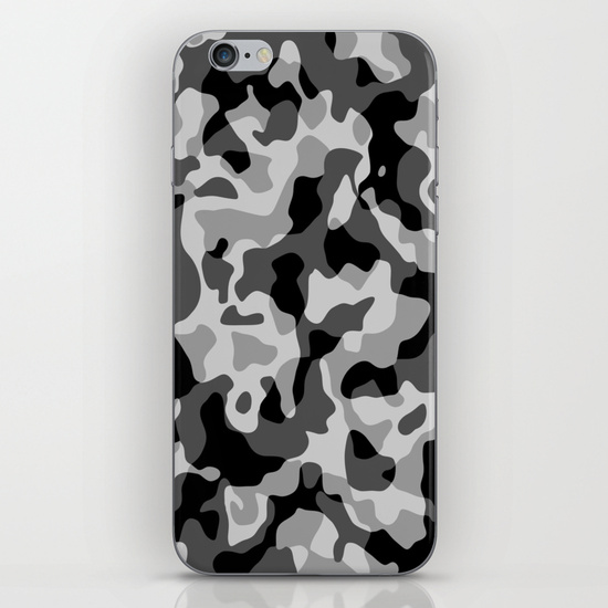 Grey Camouflage Army Military Pattern iPhone 6 Case by BluedarkArt | Society6