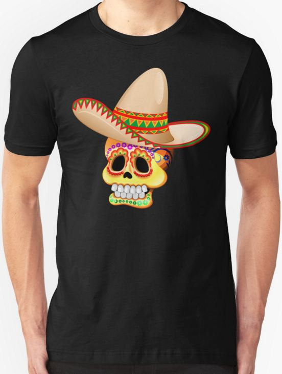 Sugar Skull Tee - by BluedarkArt on RedBubble
