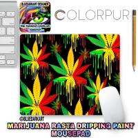 SOLD! 🌿 Marijuana Rasta Colors Dripping Paint Mousepads 🌿 Bluedarkart Designer's Colorpur Shop