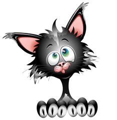 Gatto Cartoon-Cartoon Cat-Vector