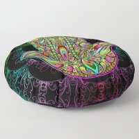 SOLD! Thank You! Hamsa Hand Amulet Psychedelic Floor Pillows