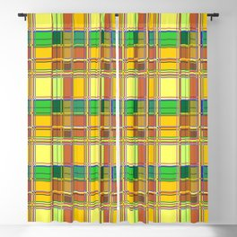 Caribbean Colorful Fabric Madras Tartan Blackout Curtain