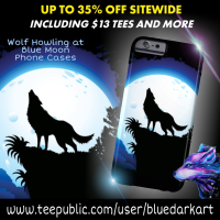💙 Wolf Howling at Blue Moon Phone Case 💙 SOLD! Thank you!
