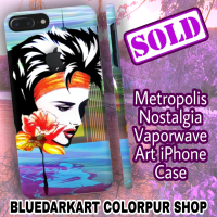 SOLD! Thank You! Metropolis Nostalgia Vaporwave Art iPhone Cover