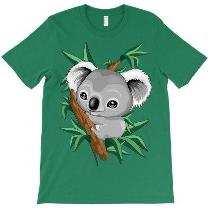 Koala Baby On The Eucalypt Branch T-shirt Designed By Thechameleonart