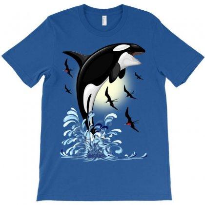 Orca Killer Whale Jumping T-shirt Designed By Thechameleonart