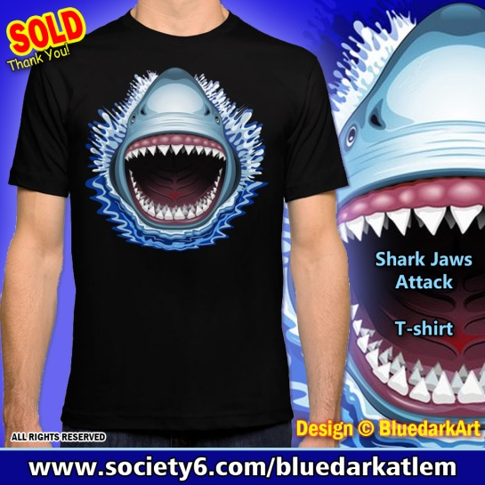 Shark Jaws Attac - Design © BluedarkArt TheChameleonArt