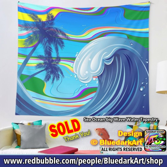 Sea Ovean Big Wave © BluedarkArt