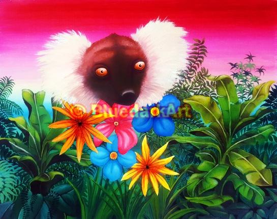 Lemur Surreal Portrait © BluedarkArt TheChameleonArt