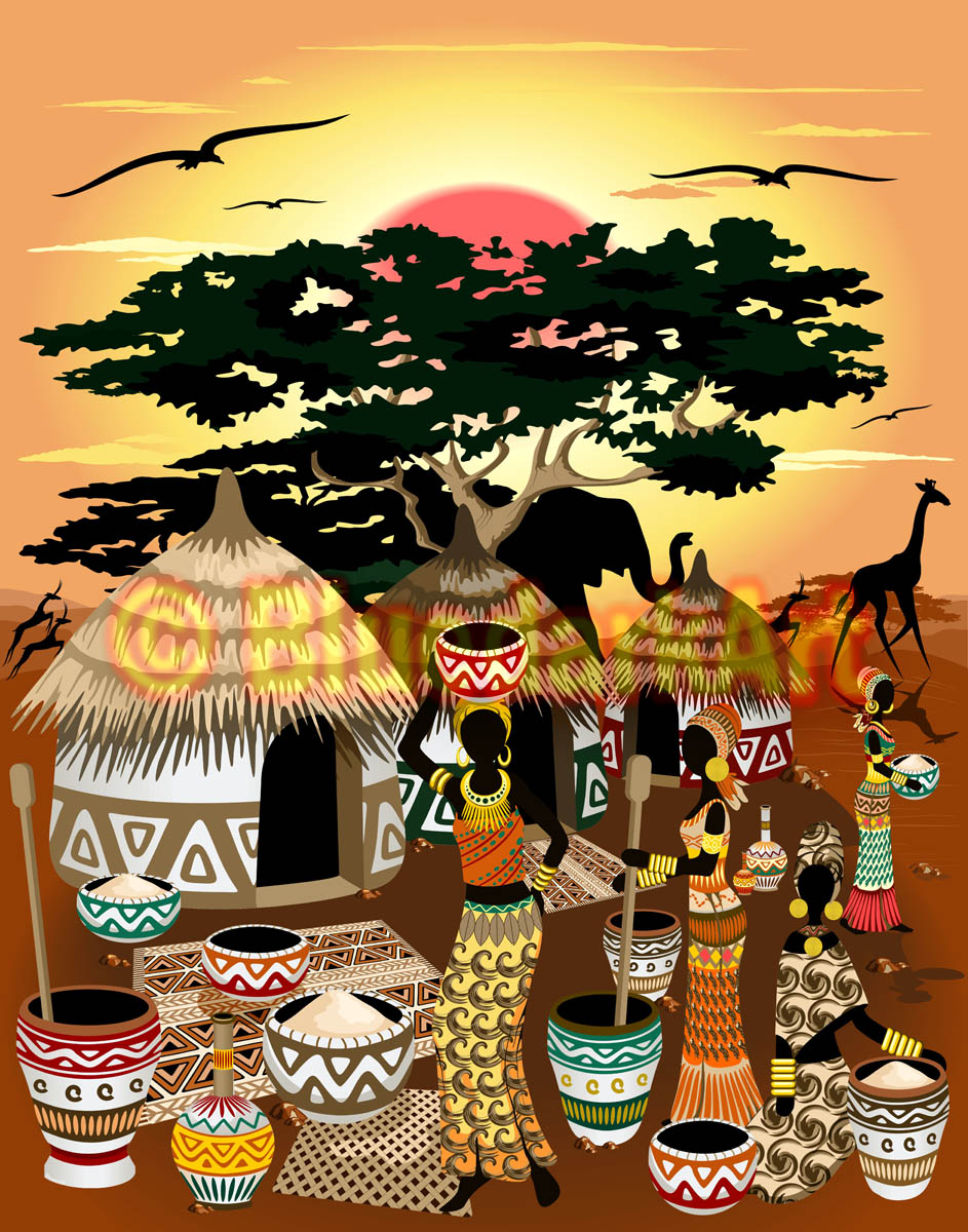 African Life Vector Art © BluedarkArt