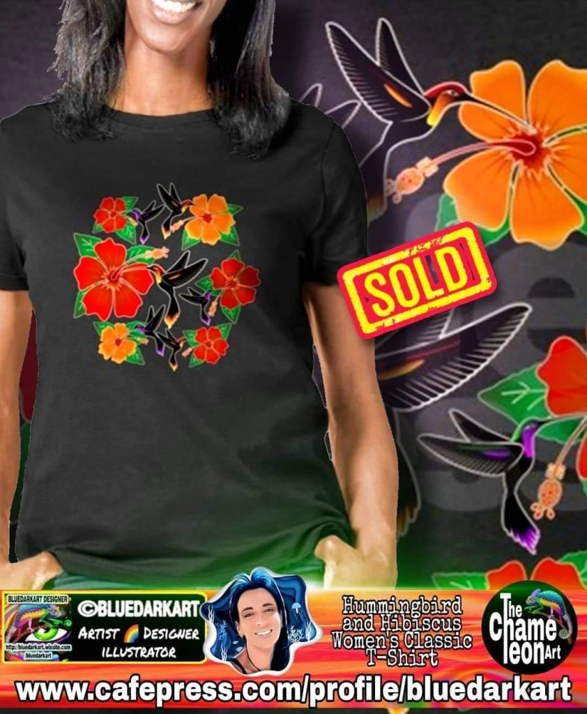Hummingbird and hibiscus t-shirts for girls and wwwwowowomen - Summer fashiin trends - Shopping online - gift ideas