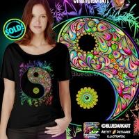 SOLD! Thank You! ☯️ Yin Yang Bamboo Psychedelic T-shirts