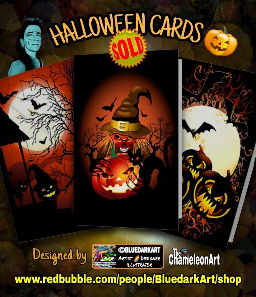 🎃 #Halloween #Greeting #Cards! 🎃 #Designs ©️ #BluedarkArt #TheChameleonArt